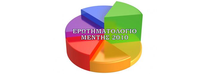 Ερωτηματολόγιο Μέντη 2010