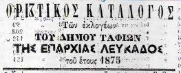 Ο Εκλογικός Κατάλογος Μεγανησίου του 1875 !