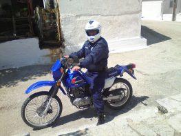 Με νέα μηχανή η αστυνομία στο νησί