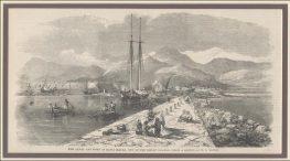 Το κανάλι και η πόλη της Λευκάδας (Santa Maura) γύρω στα 1859