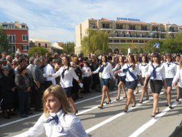 Από την παρέλαση στη Λευκάδα