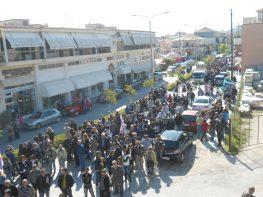 Μεγαλειώδης η χτεσινή απεργιακή συγκέντρωση στην πόλη της Λευκάδας