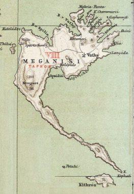 Χάρτης Μεγανησίου του 1889