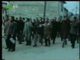 Από τα γυρίσματα της ταινίας «Ο Θίασος» του Αγγελόπουλου, στην Λευκάδα