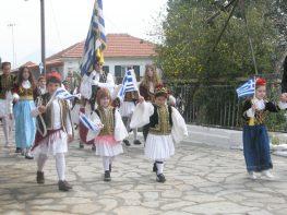Εορτασμός 25ης Μαρτίου στο Μεγανήσι
