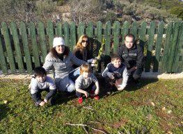 Δενδροφύτευση στη παιδική χαρά Κατωμερίου έκαναν τα παιδάκια του Νηπιαγωγείου Μεγανησίου