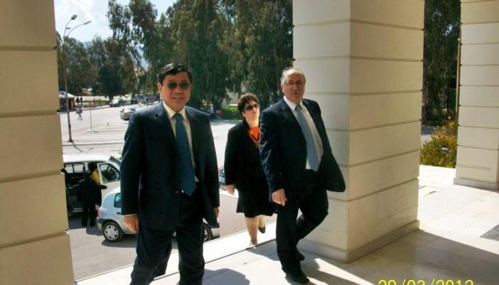Ο Πρέσβης της Λαϊκής Δημοκρατίας της Κίνας στην Λευκάδα