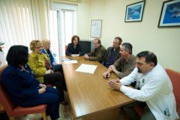 Το νοσοκομείο επισκέφτηκε η υπ. βουλευτής Λ. Καραβία