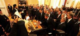Η νέα κυβέρνηση υπό τον νέο Πρωθυπουργό Λουκά Παπαδήμο και η ορκωμοσία