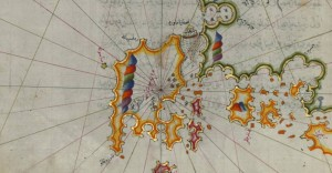 Piri_Reis_-_Map_of_the_Western_Coast_of_Greece_From_the_Island_of_Levcas_Going_North_as_Far_as_Paxi_Island_-_Walters_W658141A_-_Full_Page_2