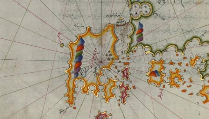 Η Λευκάδα (και το Μεγανήσι) στο χάρτη του Πίρι Ρέις