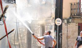 Ανακοίνωση της Λαϊκής Ενότητας για την πυρκαγιά στην παλιά πόλη