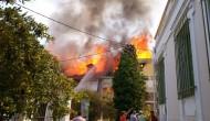 Πυρκαγιά στη παλιά πόλη της Λευκάδας