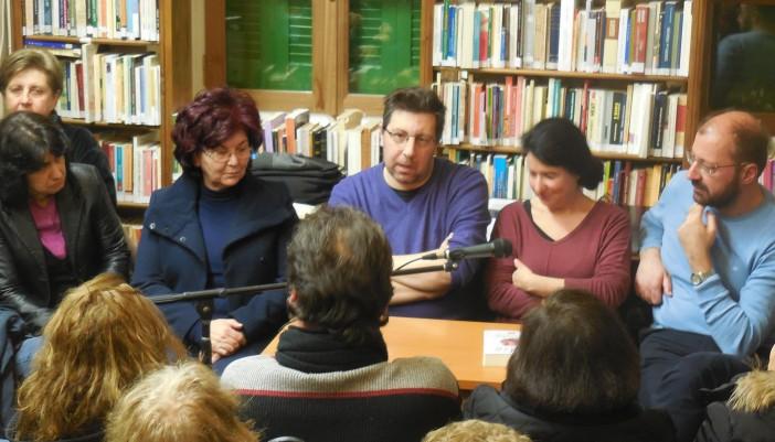 """Από την παρουσίαση του «Άλικου πάγου"""" στην Δημόσια Βιβλιοθήκη Λευκάδας"""