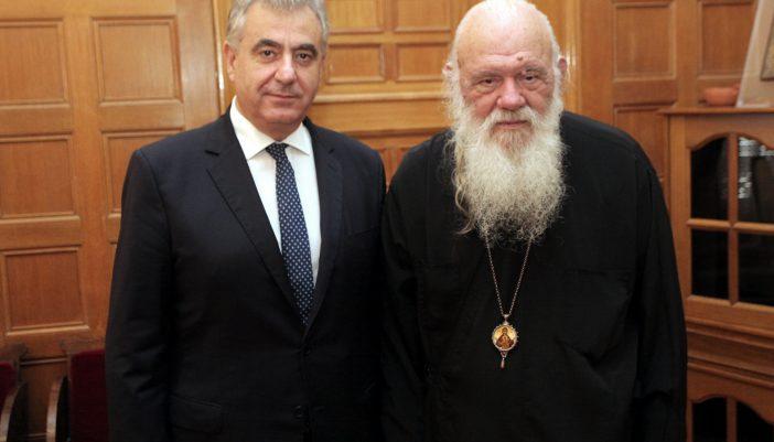 Τον Αρχιεπίσκοπο κ. Ιερώνυμο  επισκέφθηκε ο βουλευτής Λευκάδας