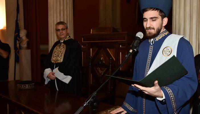 Τον όρκο του τμήματός αποφοίτησης Ιστορικού-Αρχαιολογικού απάγγειλε ο Άρης Κατωπόδης!