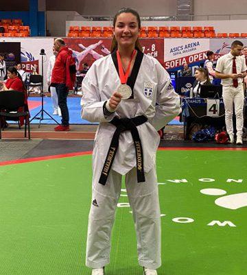 Αργυρό μετάλλιο για την Μανωλαράκη στο Open της Σόφιας