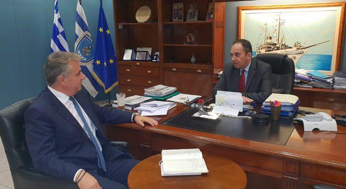 Συναντήσεις του Θανάση Καββαδά με τον Υπουργό Ναυτιλίας Ιωάννη Πλακιωτάκη και τον Αρχηγό του Λιμενικού Σώματος Αντιναύαρχο Θεόδωρο Κλιάρη