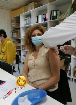Εμβολιάστηκε η πρώτη Μεγανησιώτισσα για τον κορονοϊό!