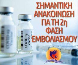 Την Τετάρτη το πρωί ο εμβολιασμός (2η δόση) και των υπολοίπων κατοίκων στο Μεγανήσι.