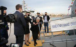 Παρουσία του πρωθυπουργού η ονοματοδοσία «Μαρίνος Ζαμπάτης» σε νέο περιπολικό σκάφος του Λιμενικού