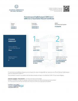 Ανακοίνωση δήμου Μεγανησίου για πιστοποιητικά εμβολιασμού