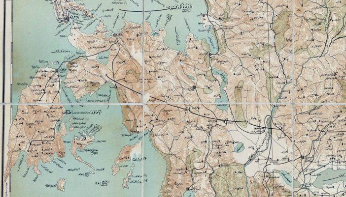 Το Μεγανήσι σε Οθωμανικό χάρτη του 1900