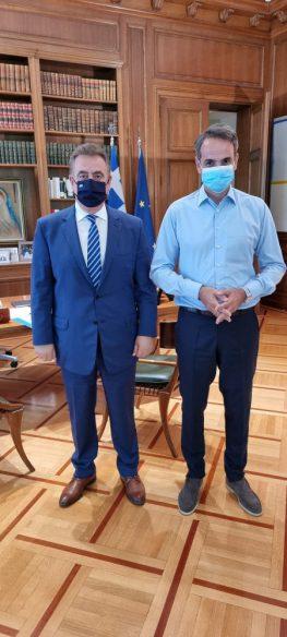 Συνάντηση του Θανάση Καββαδά  με τον Πρωθυπουργό Κυριάκο Μητσοτάκη στο Μέγαρο Μαξίμου